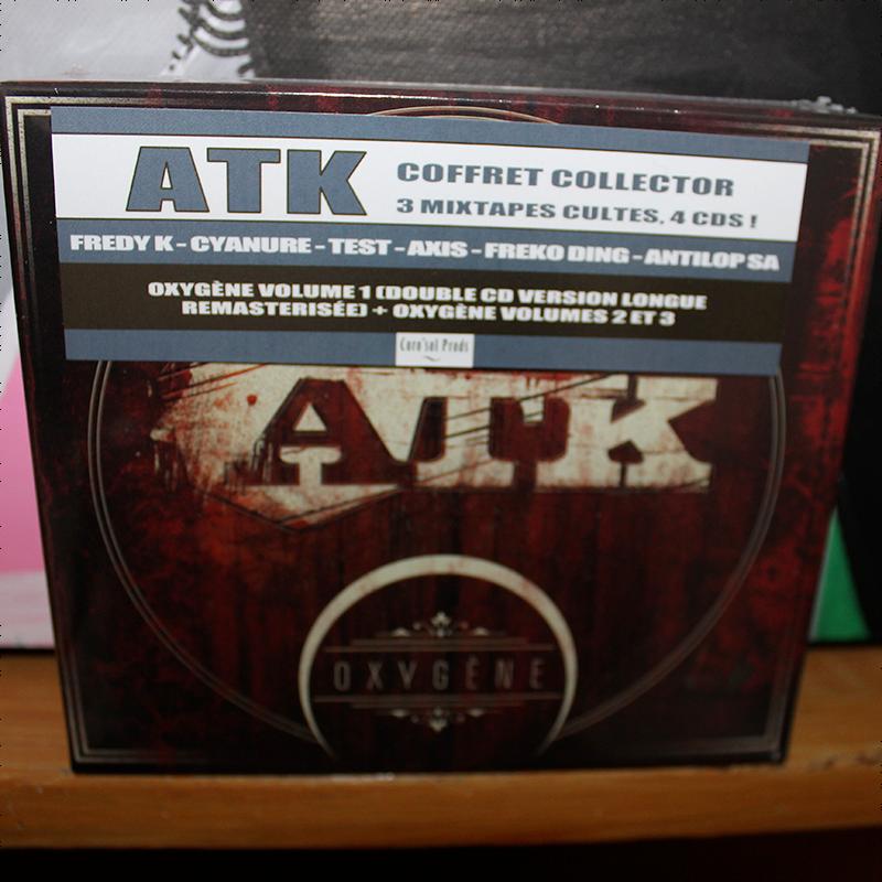 ATK oxygne volume 1 + Volume 2 + Volume 3 - Coffret 4 CD CD - Shop ton hiphop