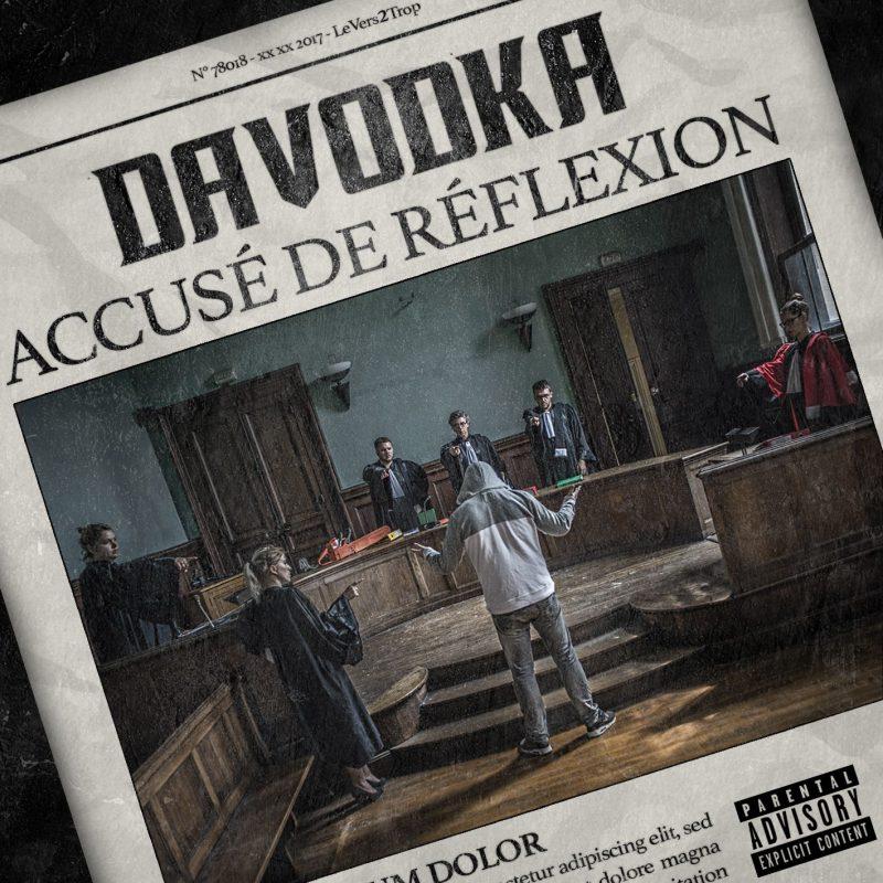 Cover album vinyle rap francais davodka accusé de réflexion shoptonhiphop