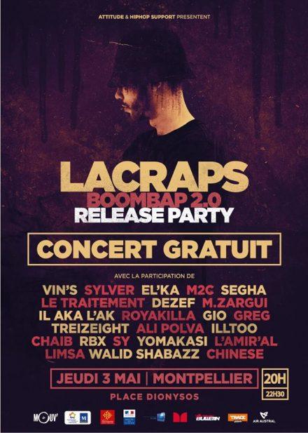 Concert rap francais lacraps bombap shoptonhiphop