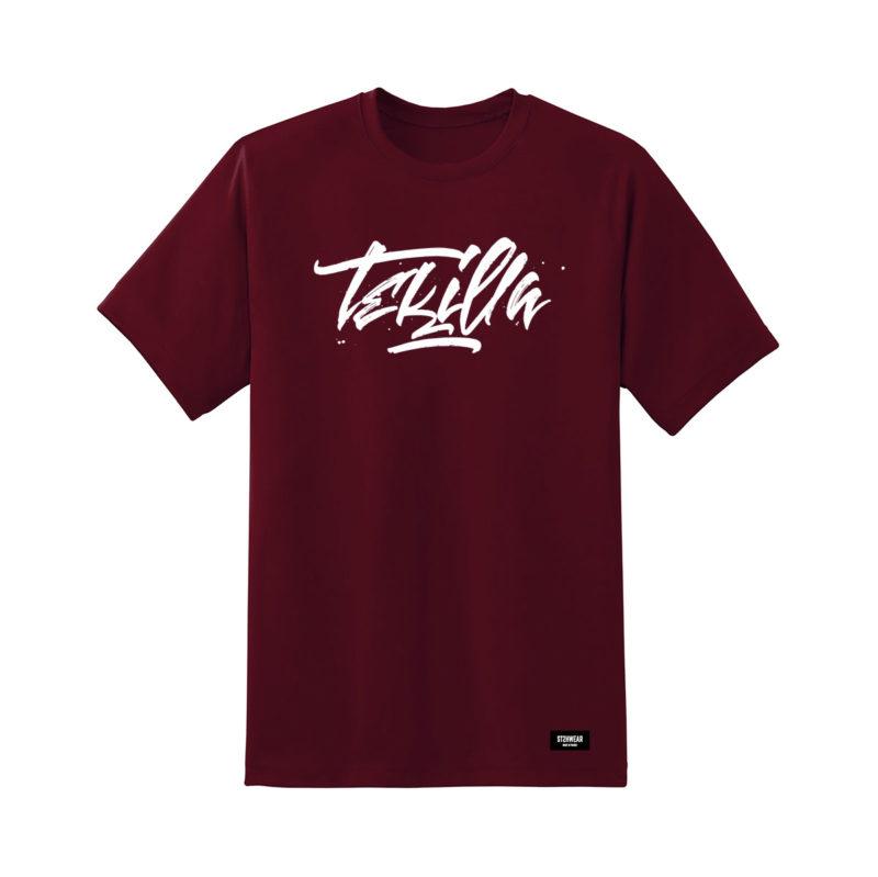 tee-shirt-tekilla-paf-burgundy-streetwear-shoptonhiphop