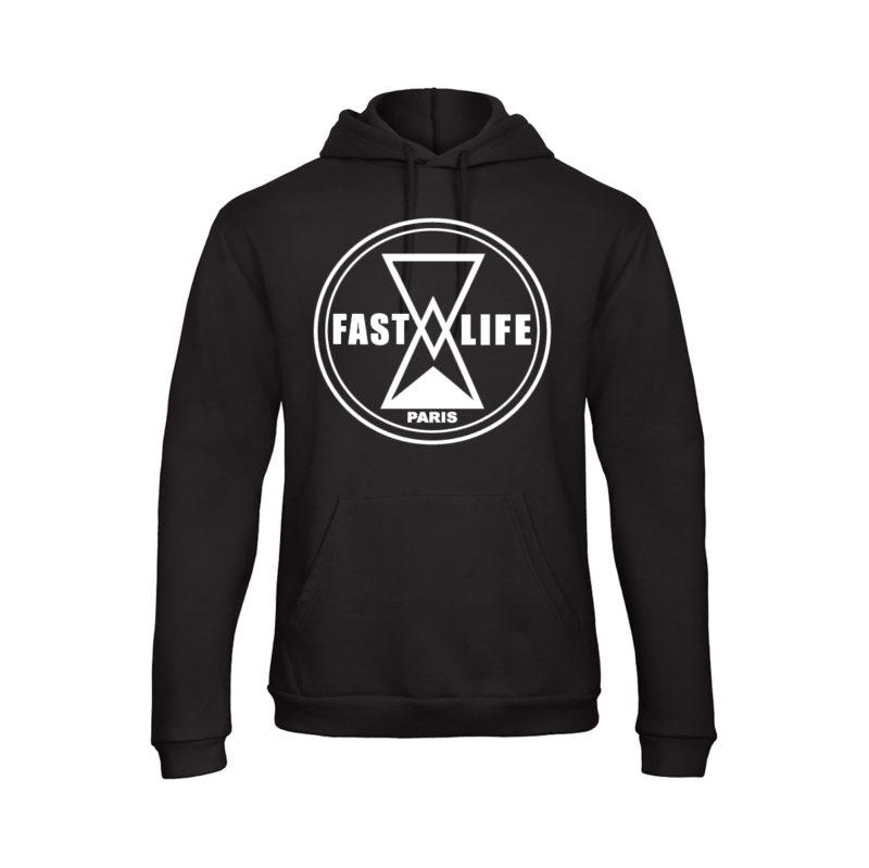 Hoodie noir fastlife Label streetwear shoptonhiphop