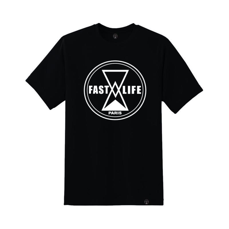 Tshirt fastlife noir Label streetwear shoptonhiphop
