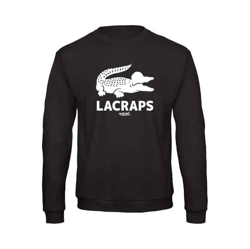 crewneck-Lacraps-croco-black-streetwear-shoptonhiphop