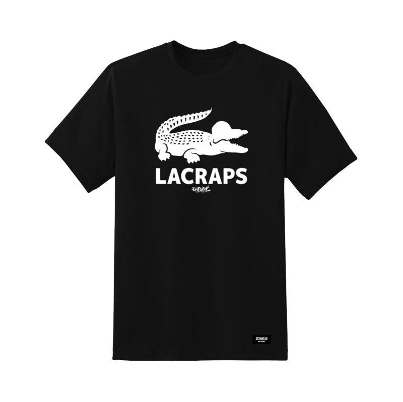 tee-shirt-Lacraps-croco-blanc-sur-noir-shoptonhiphop