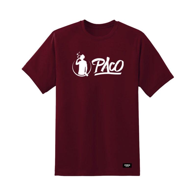 tee-shirt-paco-bordeaux-logo-smoke-streetwear-shoptonhiphop