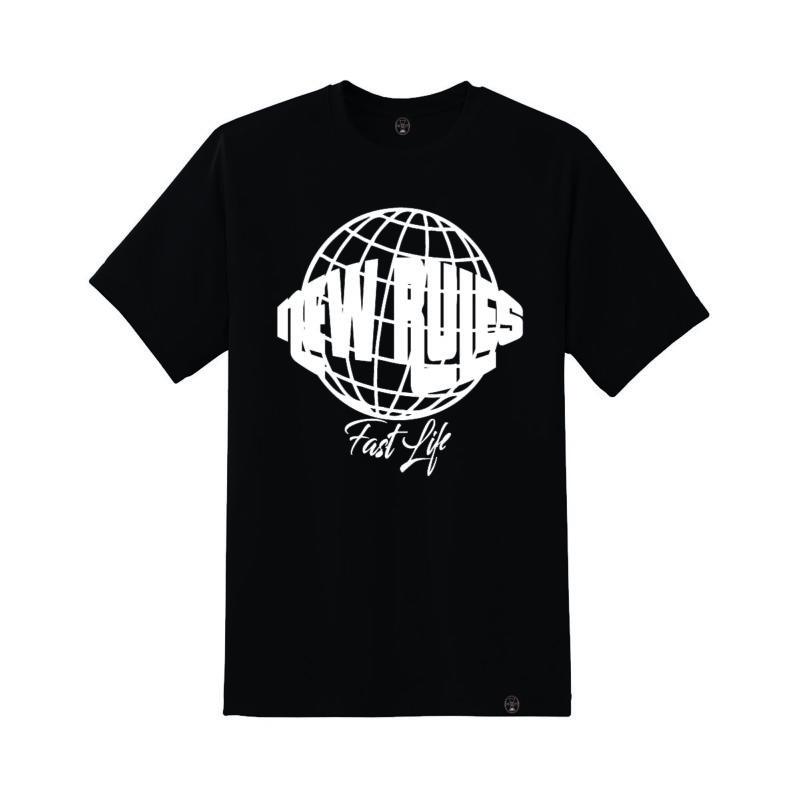 teeshirt fastlife noir New Rules streetwear shoptonhiphop